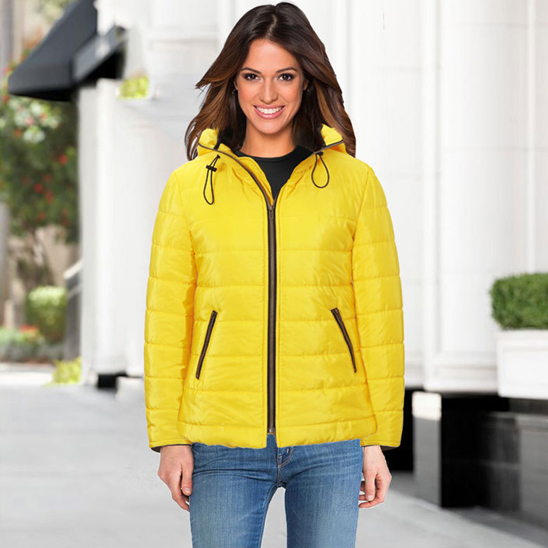 2017 new fashion women parkas Winter thickening Jackets big size xXL Ladies outerwear coat High-quality yellow Cotton Clothes