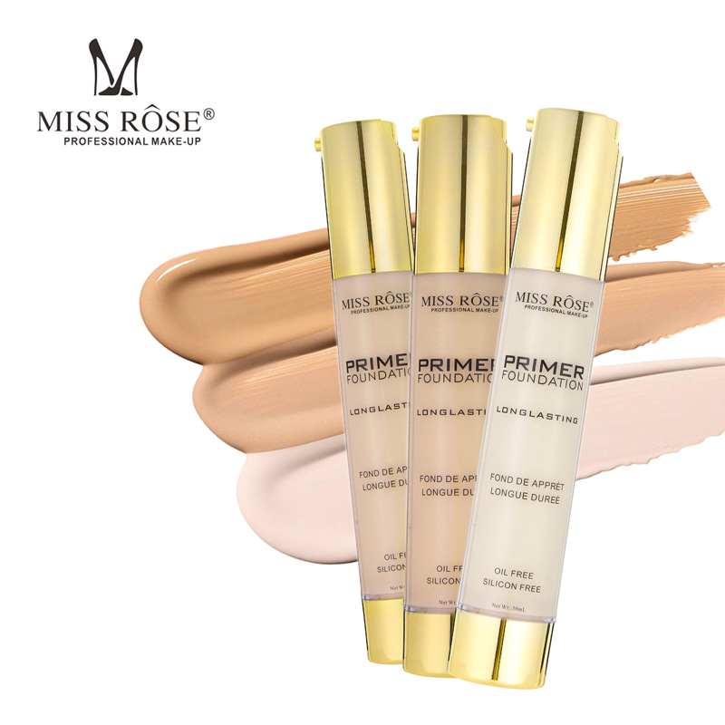 MISS ROSE 30ML Liquid Foundation Face Color Waterproof Concealer Coverage Makeup Cosmetic Base maquiagem in Concealer from Beauty Health