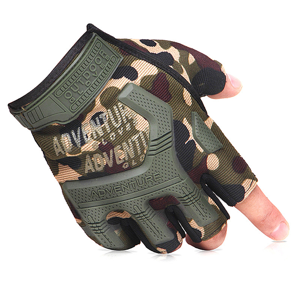 Multicolor Breathable Half Finger Tactical Gloves Outdoor Sports