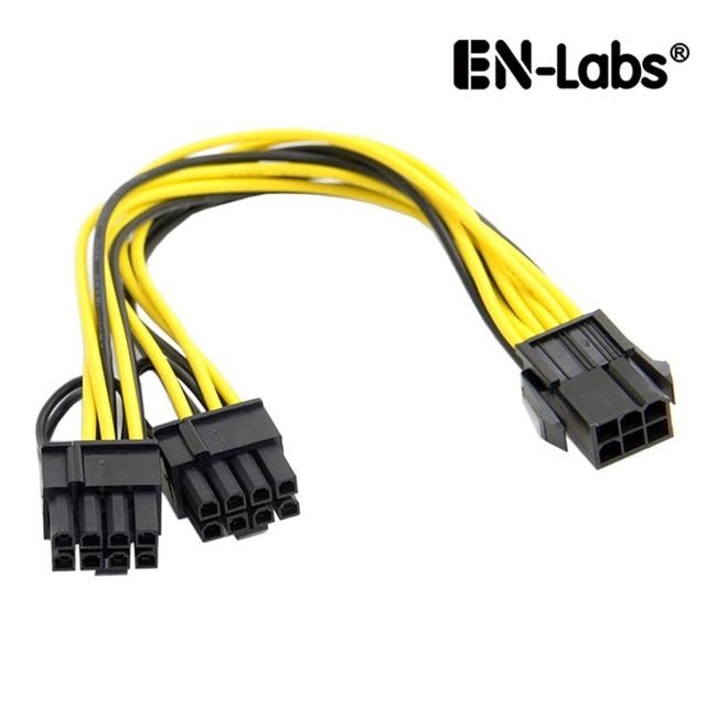En Labs Molex 6 Pin Pci Express To 2 X Pcie 8 6 2 Pin