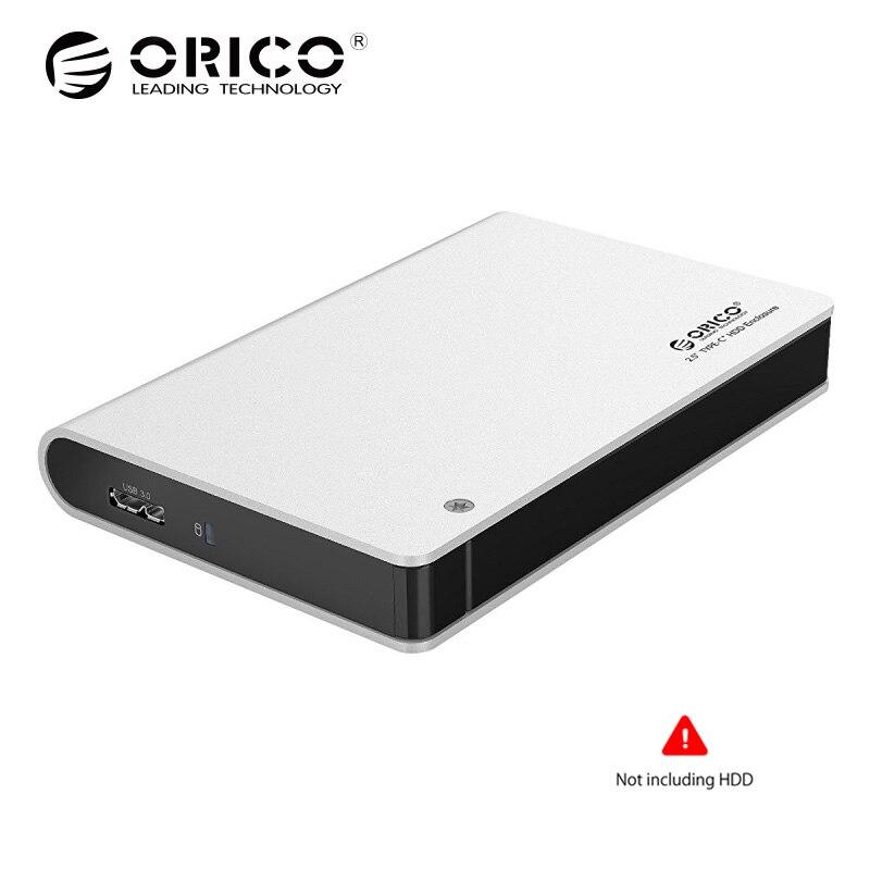 ORICO 2.5 HDD Hd Boîtier SATA USB3.0 Lecteur Nas Outil Livraison 5 Gbps Disque Dur En Métal Boîte Sata Externe En Aluminium (non compris DISQUE DUR)