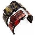 20mm 22mm 24mm 26mm camuflagem pele de avestruz couro Genuíno pulseiras de relógio para Panerai com aço inoxidável fivela