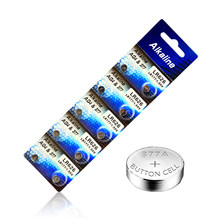 10pcs/lot 1 cards MICKTICK AG4 1.5V Button Cell Batteries LR626 LR66 377 SR626SW 177 Cell Watch Toys clcoks Battery Wholesales(China)