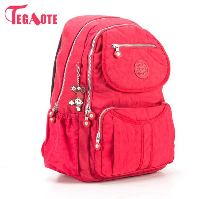TEGAOTE School Backpack For Teenage Girl Mochila Feminina Escolar Women  Backpacks Bag Nylon Casual Travevl Laptop 3c206e74ff8a7