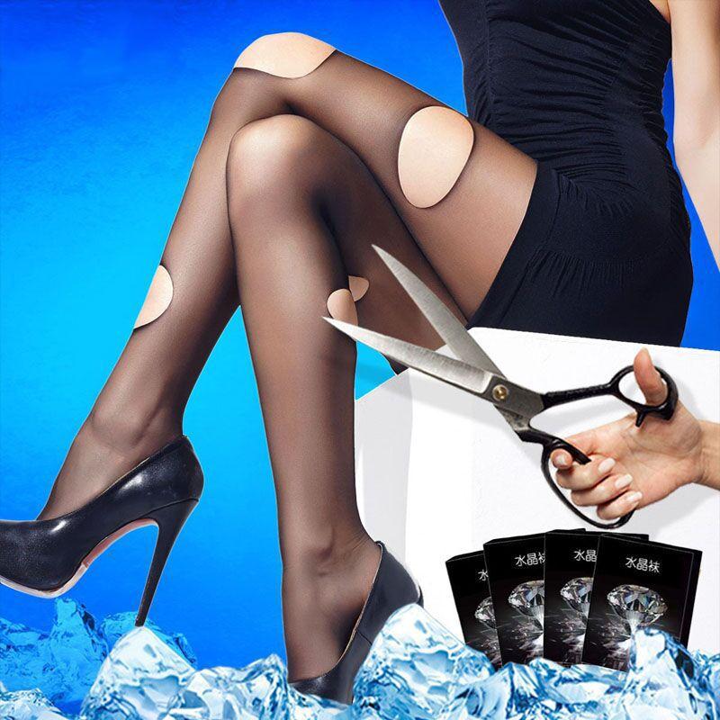 2018 New Summer 5D Ultra-thin Velvet Crystal Pantyhose Anti-hook Wire Slim Stretch Female Stockings Women Hosiery Tights