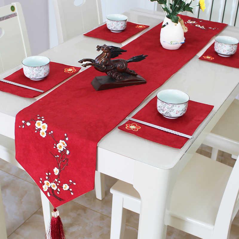 Rustieke Natuurlijke Jute Decor Tafelkleed Geïmiteerd Linnen Tafelkleed Embroieded Tafelloper voor Bruiloft Deel Tafel Decornation