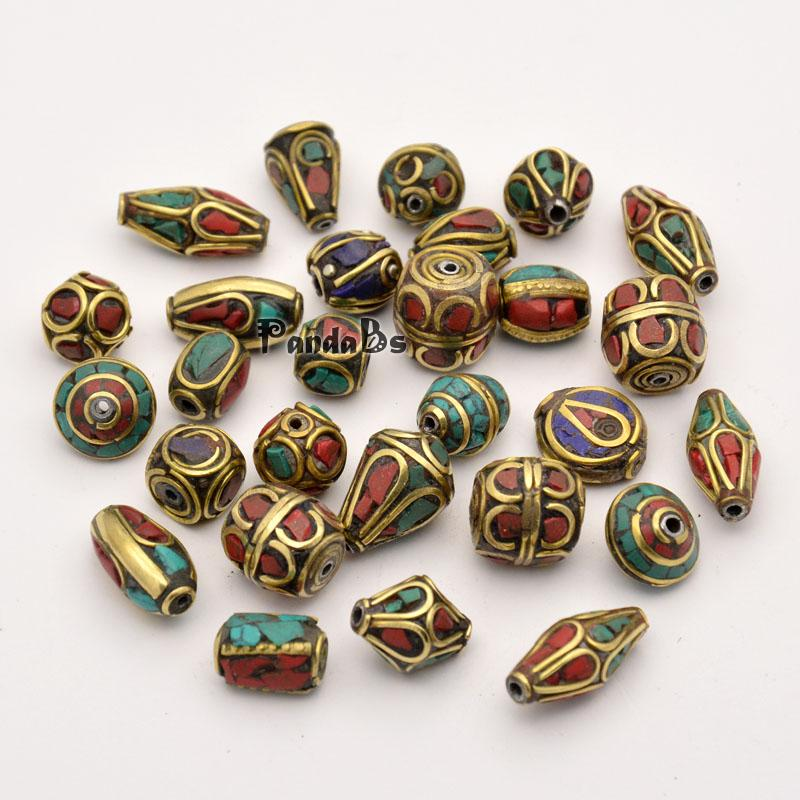 50pcs hot sale handmade tibetan fashion jewelry making for Unique stones for jewelry making