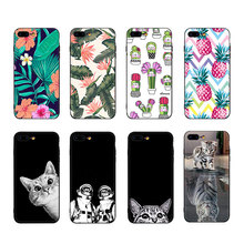 VEVICE Soft Silicone Matte Black TPU Cover Case For iPhone 7 6 6S 8 Plus X XS Max XR Cartoon Cat Dog Pattern Coque Cases Capa