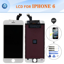 "AAA brand new LCD assembly for Iphone 6 touch screen display digitizer complete set mobile pantalla black white 4.7"" LCD"