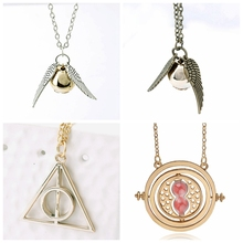 Magic Wand Time Turner Hourglas Fly Thief Pendant Toys Necklace Triangle Necklace Action Toy Figures