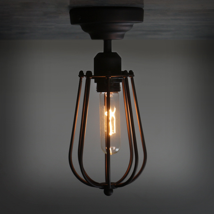 black vintage industrial pendant light nordic retro lights iron lampshade loft edison lamp metal cage dining room Countrysideblack vintage industrial pendant light nordic retro lights iron lampshade loft edison lamp metal cage dining room Countryside