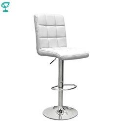 94508 Barneo N-48 эко-кожа кухонный белый стул барный стул с мягким сиденьем на газ-лифте мебель для кухни стул высокий стул для барной стойки кресл...