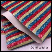 (DM6087) Chunky Rainbow Glitter Fabric For Hairbows