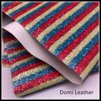 (DM6087) Chunky Rainbow Glitter ผ้าสำหรับ Hairbows - SALE ITEM บ้านและสวน