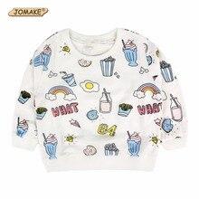 2017 Autumn Costume For Kids Long Sleeve Sweatshirts Hoodies Baby Boys Girls Sweatshirt Children Cartoon Food Pattern T Shirts