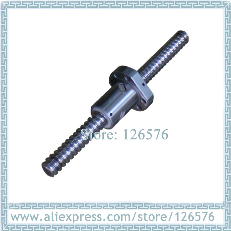 China ball screw SFU1605 L-250mm/300mm/350mm/400mm BK/BF12 end machined + <font><b>1605</b></font> METAL DEFLECTOR <font><b>Ballscrew</b></font> <font><b>nut</b></font> image