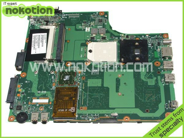 NOKOTION LAPTOP MOTHERBOARD FOR TOSHIBA A210 A215 V000108680 6050A2127101-MB-A02 AMD DDR2 nokotion sps v000198120 for toshiba satellite a500 a505 motherboard intel gm45 ddr2 6050a2323101 mb a01