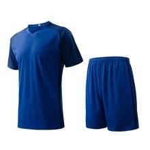 men s training short sleeve jersey breathable running sets sportswear font b soccer b font team