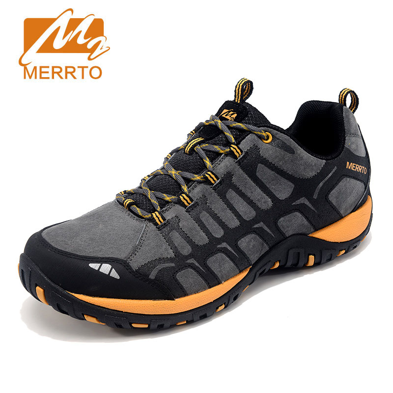 MERRTO Winter Hiking Shoes Men Waterproof Outdoor Hiking Boots Athletic Sneakers Genuine Leathe Walking Mountain Trekking Shoes merrto men waterproof hiking shoes outdoor sports shoes genuine leather sneakers breathable walking mountain trekking shoes men