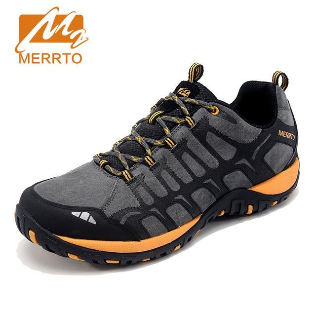 Winter Hiking Shoe Men Outdoor Athletic Sneakers Genuine Leathe Walking Mountain Trekking Shoes