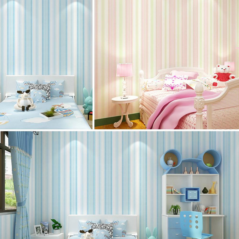 Comparer les prix sur pink stripes wallpaper   online shopping ...