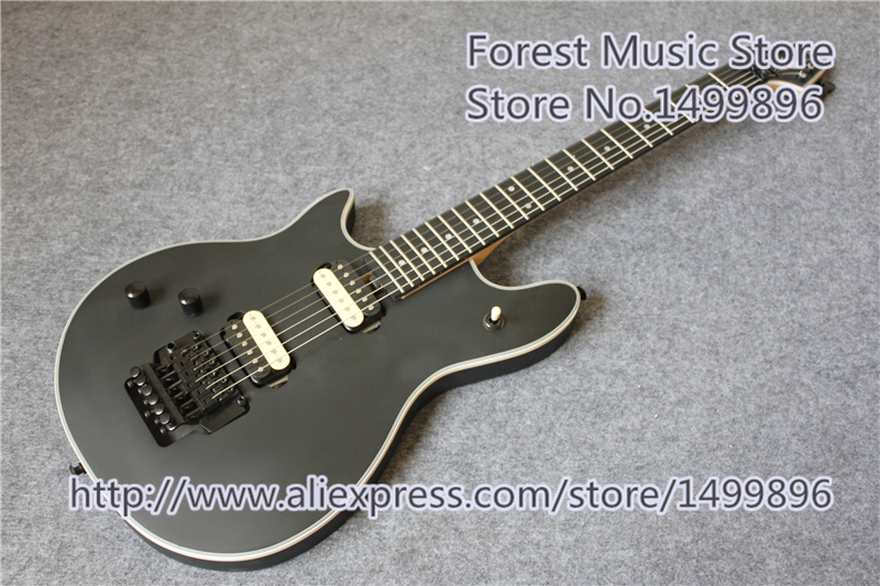 New Arrival China Left Handed Matte Black Finish Wolfgang Electric Guitars With Black Floyd Rose Tremolo new arrival chinese left handed 6 string electric bass guitars with metallic blue finish for sale