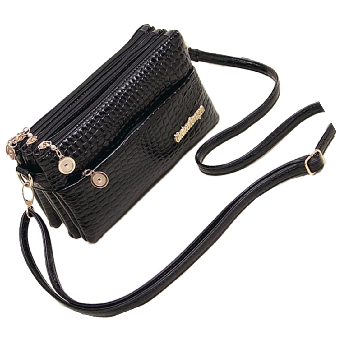 FGGS Hot Women Handbags Small Shoulder Bag Crocodile Pattern Women Messenger Bags For Women Handbag Clutch Black