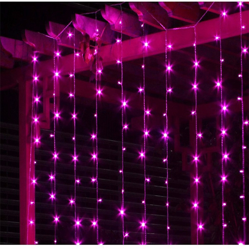 Led Curtain Fairy String Light 3M*3M 448Led Icicle Waterfall Lighting Holiday Lights Party Christmas Wedding Decoration 110/220V 6m x 3m led curtain waterfall fairy lights christmas party wedding holiday decoration lighting icicle waterfall light 110v 220v