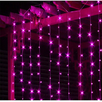 Led Curtain Fairy String Light 3M 3M 448Led Icicle Waterfall Lighting Holiday Lights Party Christmas Wedding