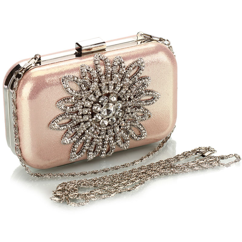 2016 New Single Side Sun Diamond Crystal Evening Bags Clutch Bag Hot Styling Day Clutches Lady Wedding Woman 40