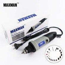 MAXMAN Profesional Mini Amoladora Eléctrica 0.6 ~ 6.5mm Chuck Herramienta Rotativa de Velocidad Variable Multifuncional DIY Multi Herramientas Eléctricas
