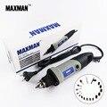 Maxman profissional elétrico mini moedor de morrer 0.6 ~ 6.5mm velocidade variável ferramenta rotativa multifuncional diy multi ferramentas de poder chuck