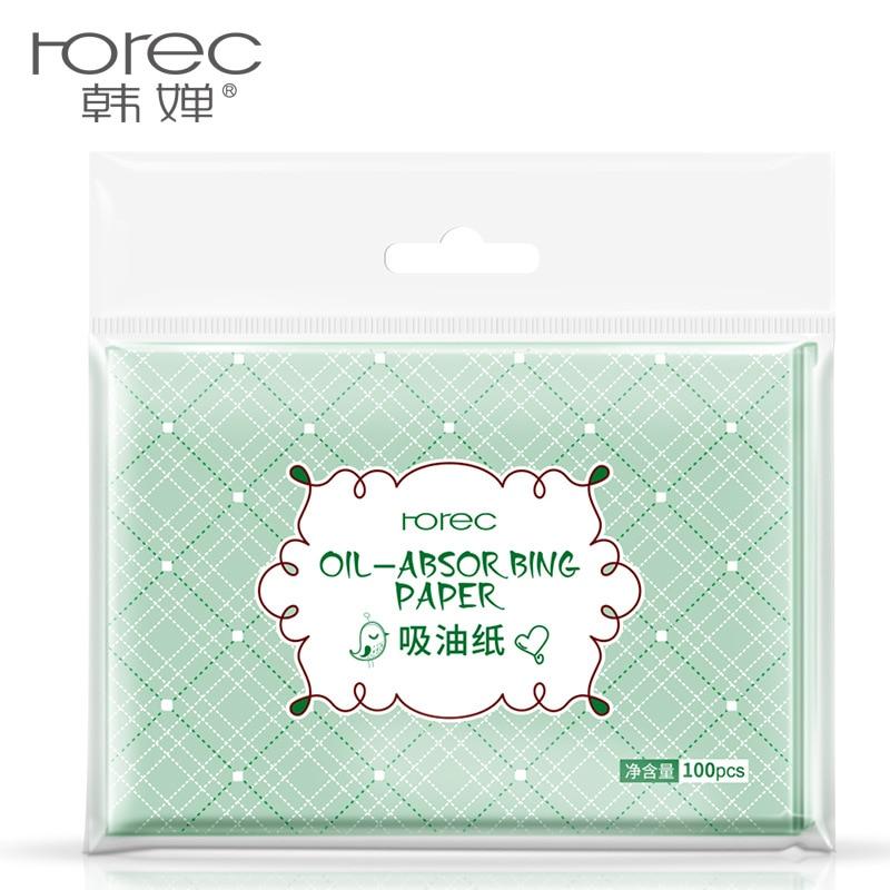 100Pcs *3 Pack  Face Paper Absorption Facial Makeup Fabrics Buvard Cleaning Paper HOREC Green tea aromatherapy paper