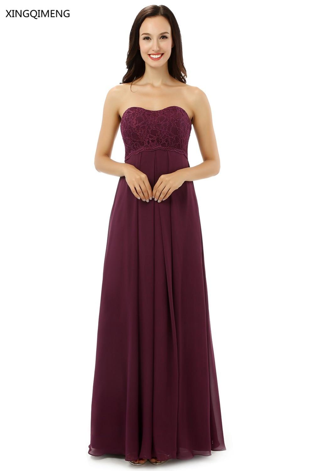 Buy cheap strapless floor length chiffon coral bridesmaid dress - Bridesmaid Dresses 2017 Coral Burgundy Mint Navy Color Floor Length Off The Shoulder Chiffon Vestido Madrinha