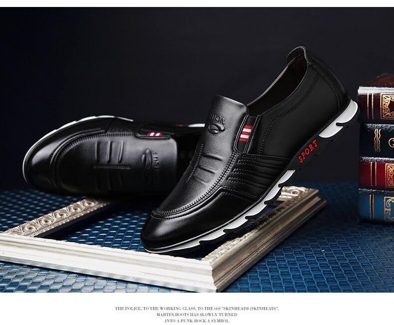 Mens Loafer Shoes Black Online - MiraShop