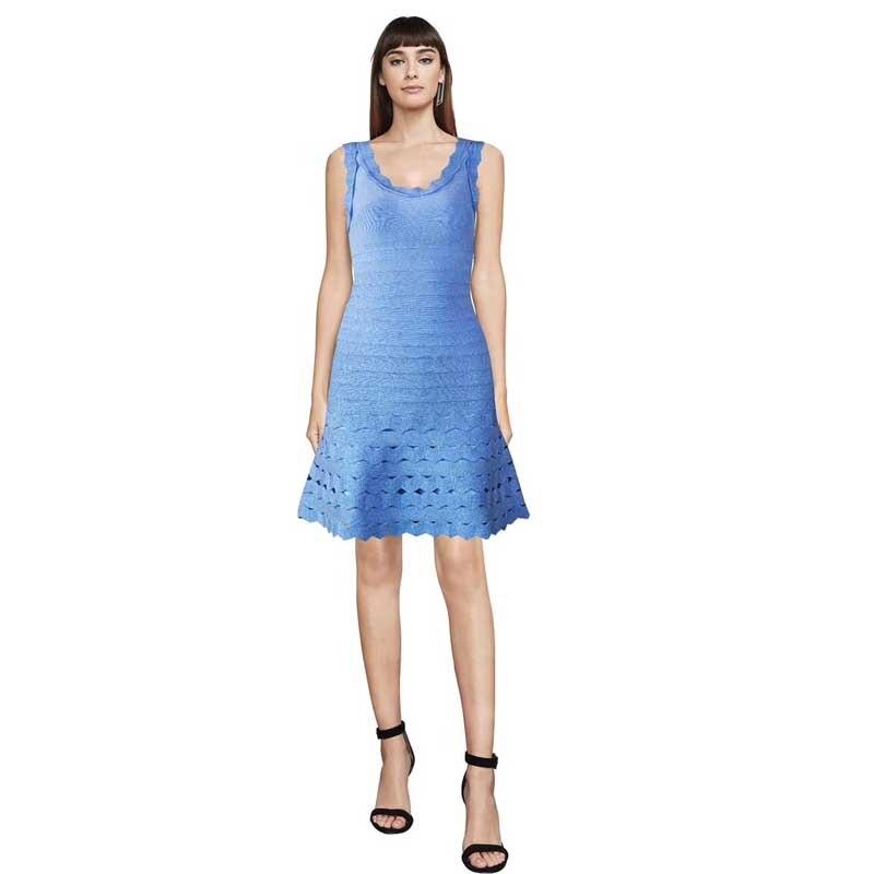 En gros 2019 nouvelles robes multiples couleur dentelle creuse élégante et élégante robe de bandage de cocktail de célébrité (L2515)