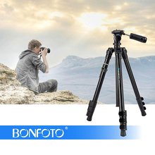 BONFOTO B73A 58 Portable Camera Travel Tripod and Monopod + Panorama Pan Head Carry Bag for Smartphones DSLR with 1/4 Screw