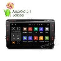 Xtrons 2 DIN в тире 8 Android 5.1 dvd плеер автомобиля 4 ядра HD touch Экран 1080 P GPS навигации OBD2 для Volkswagen/Seat/Skoda