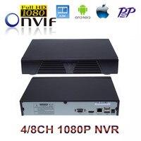 HK Post Freeshipping 4CH 8CH Black Full HD NVR ONVIF 2 0 P2P Network Video Recorder