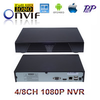 HK Post Freeshipping 4CH 8CH Black Full HD NVR ONVIF 2 0 P2P Network Video Recorder