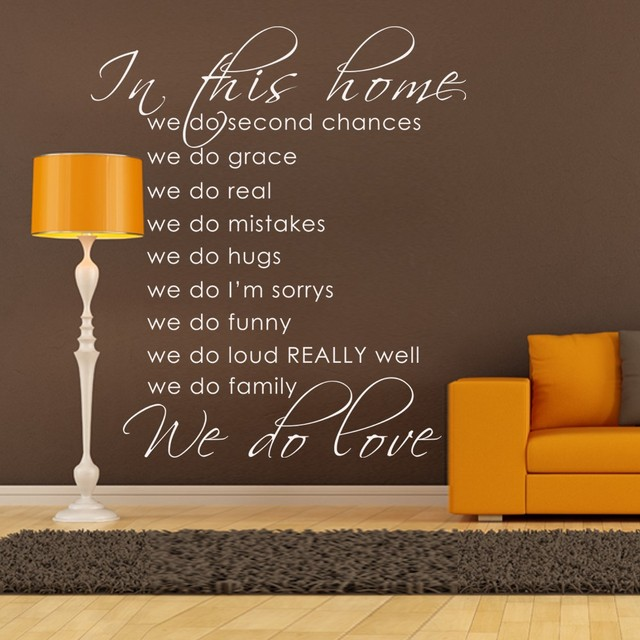 US $32 12  In This Home, We Do Grace, We Do Real House Rules Vinyl Wall  Sticker Housewares Home Wall Decal 46