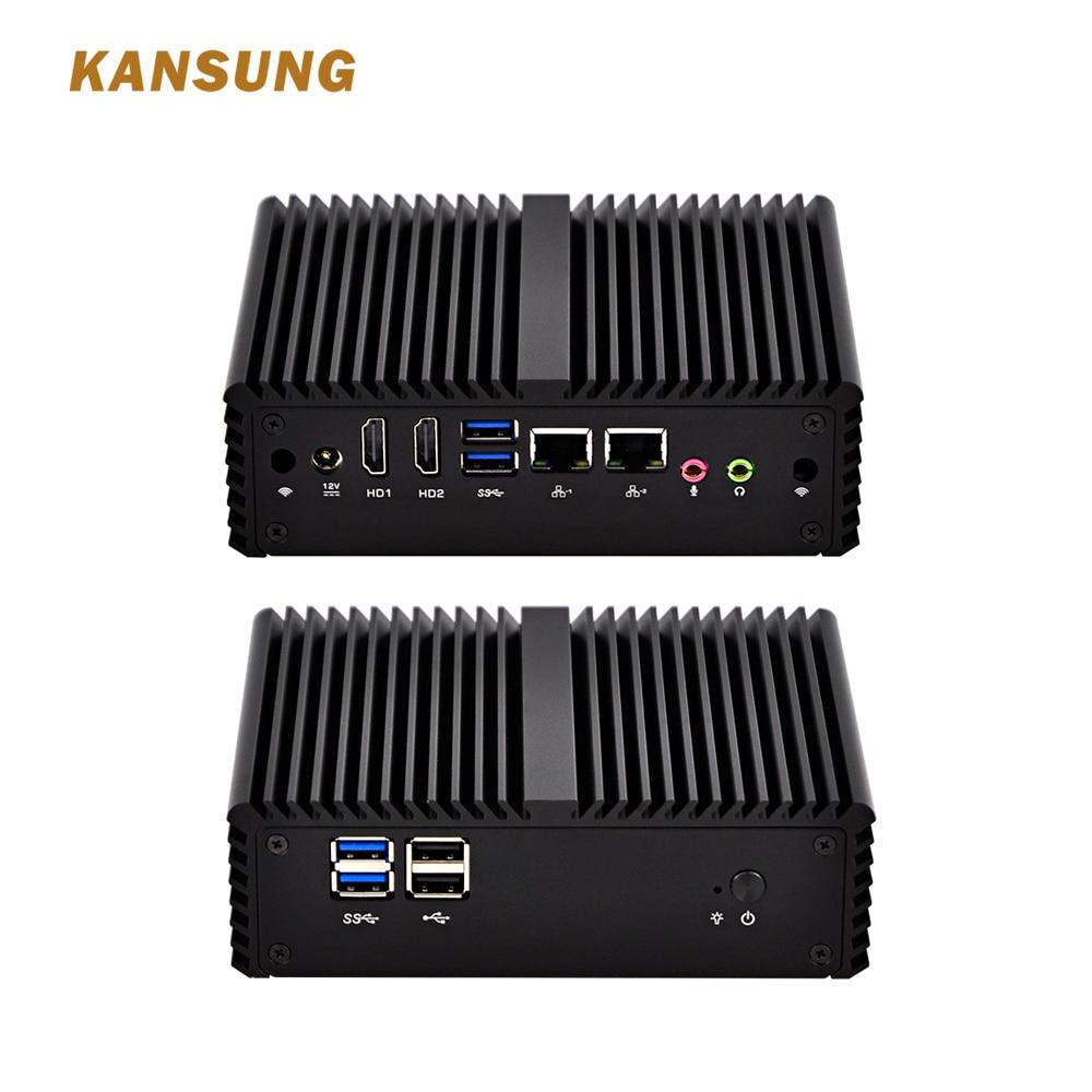 KANSUNG Low Cost Brand Types Of Mini Desktop Celeron 3215U Dual Core Processor 12V Fanless Win 10 Mini Server Computer  Pc X86