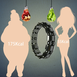 Image 1 - Magnetic therapy Health care Loss Weight Effective Black Stone Bracelets slimming Stimulating Acupoints  Arthritis Pain Relief