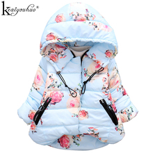 KEAIYOUHUO 2017 Winter Jackets For Girls Cotton Hooded Baby Girls Jacket&Coat Children Clothing Long Sleeve Thick Kids Outerwear