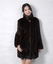 2015 winter woman fashion real mink fur  real mink coat 8043-80LL