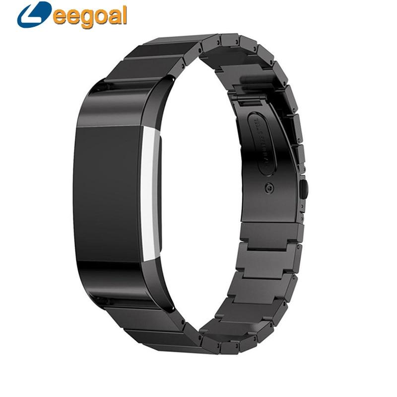 imágenes para Correas de reloj de Acero Inoxidable Milanese Loop Venda de Reloj 20mm Correa de Reloj Band Para Fitbit Smartwatch Carga 2 Band Pulsera