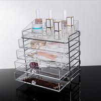 NOQ Nail Polish Nails Art Tool With Drawer Comestic Storage Box Acrylic Transparent Lipsticks Organizer Nail Brushes Files