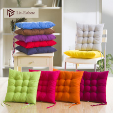 Liv-Esthete Solid Color Seat Back Cushion Square Chair Sofa Adult Office Decoration Drop Shipping Home Living Room Kitchen