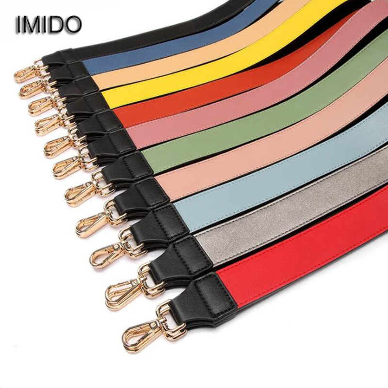 IMIDO Customized within 110cm Length leather Women replacement strap shoulder belt bag handbag accessories parts for bags STP092 imido 64cm leather handbag belt bag short strap wide shoulder bag strap replacement flower accessory parts brand design stp035
