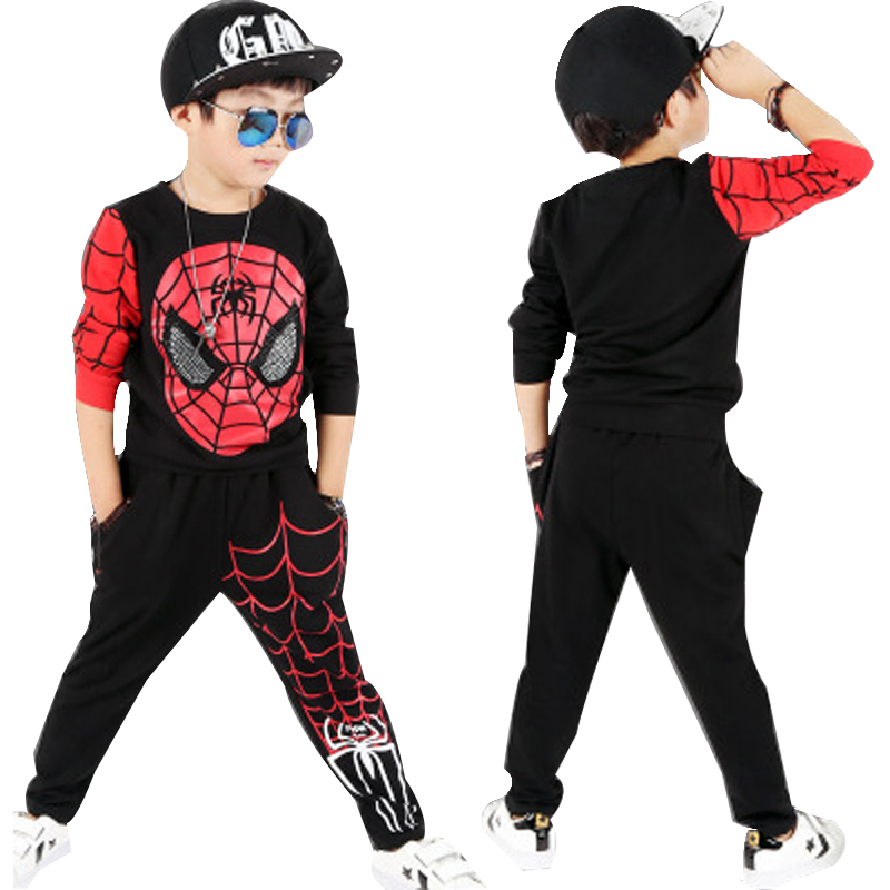 New Spiderman Baby Boys Clothing Sets Cotton Sport Suit For Boys Clothes Spring Spider Man Cosplay Costumes KIds Clothes Set bibicola spring autumn baby boys clothing set sport suit infant boys hoodies clothes set coat t shirt pants toddlers boys sets